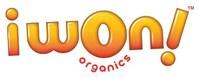 i won! organics logo
