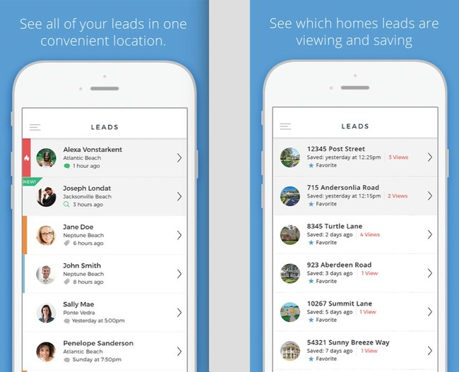 The HomeASAP Agent App(TM) provides quick, convenient access to detailed leads information and integrates with the Real Estate Agent Directory(TM) on Facebook, IDX Home Search(TM) and the Search Alliance(TM) national lead generation co-op network for agents and brokers.