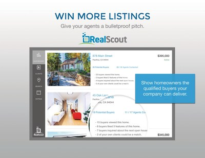 The new RealScout BrokerIQ solution helps agents and brokerages win more listings by showing homeowners the qualified buyers their company can deliver.