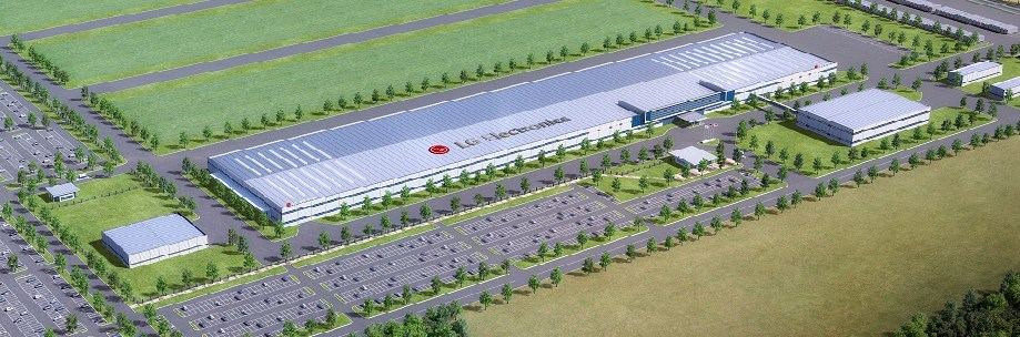 Rendering of new LG Electronics U.S. home appliance factory in Clarksville, Tenn. The $250 million project is expected to create 600 new fulltime jobs when the plant begins producing washing machines for the U.S. market in 2019.