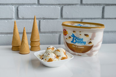 Sure to be a favorite, PB 'N Cones features swirls of creamy peanut butter and crunchy, chocolate-dipped cone pieces throughout rich vanilla ice cream, giving this classic favorite a unique twist and added texture.