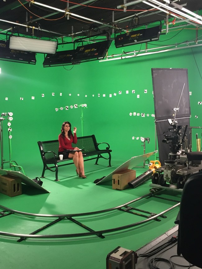 Mid-Production during a virtual reality production at Loyal Studios.