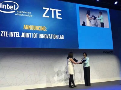 ZTE Signs Cooperation Agreement with Intel for IoT Innovation (PRNewsFoto/ZTE Corporation)