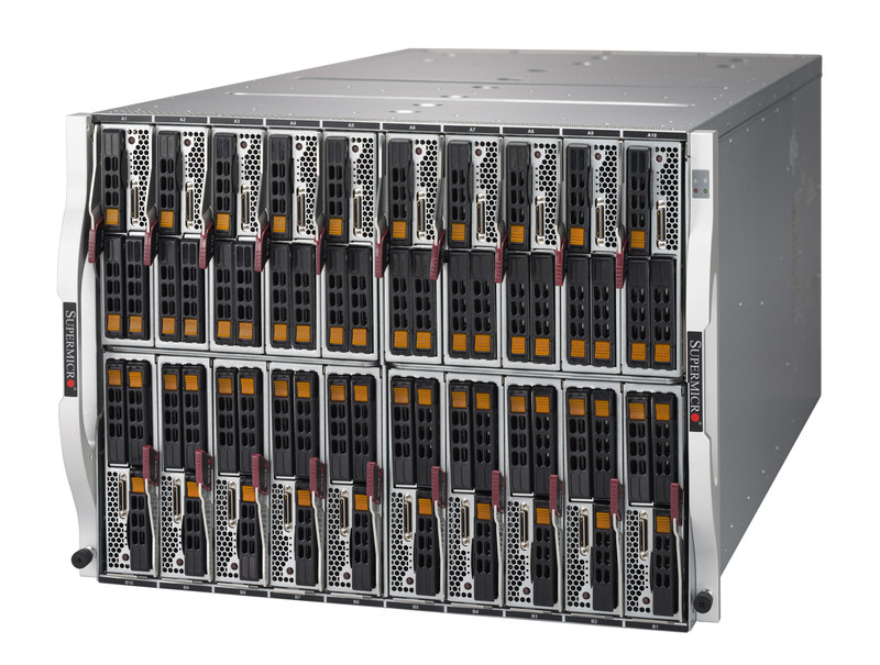New SuperBlade(R) 8U Blade Chassis houses up to 20 Hot-swappable 2-Socket (205W) CPUs