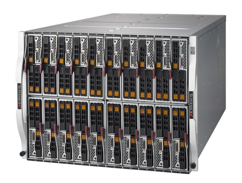 Novo chassi blade em 8U do SuperBlade(R) abriga ate 20 CPUs de 2 soquetes hot-swappable (205W)