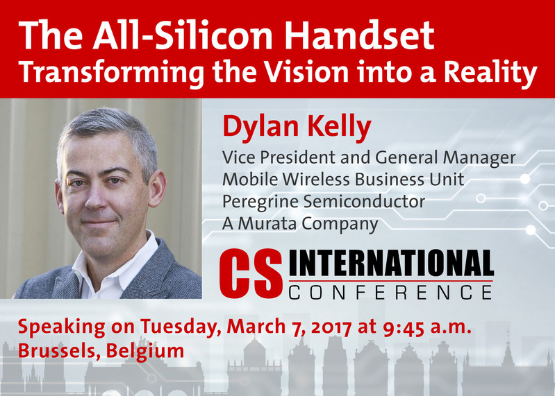 Peregrine's vice president and general manager, Dylan Kelly, will speak at Compound Semiconductor International Conference on Tuesday, March 7.