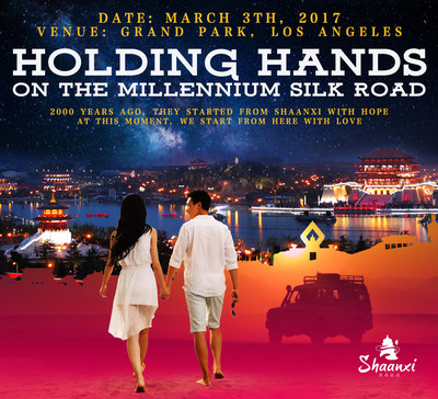 Holding hands on the millennium Silk Road. 2000 years ago, they started from Shaanxi with hope. At this moment, we start from here with love.
