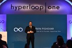 Shervin Pishevar, Executive Chairman & Cofounder of Hyperloop One, speaks at a landmark innovation summit - The Hyperloop One Vision For India - in New Delhi today (PRNewsFoto/Hyperloop One)