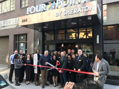 The Team of the Four Points Manhattan Midtown West celebrate the Grand Opening of the hotel at Hudson Yards
