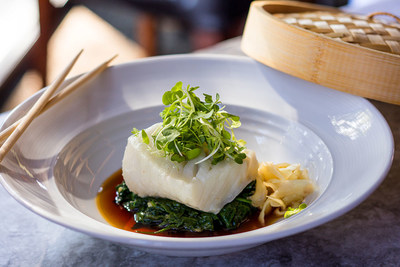 Chilean Sea Bass Steamed Hong Kong Style With Light Soy Broth
