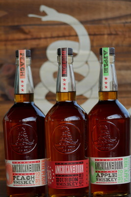 American Born 83-proof Bourbon and 70-proof, real fruit-infused, Peach and Apple
