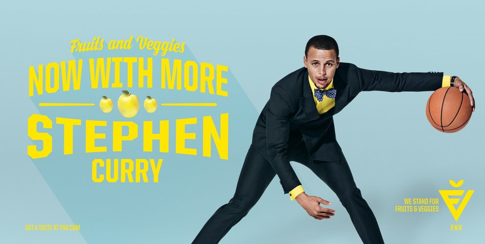 Stephen Curry and over 85 celebrities rally behind the Partnership for a Healthier America's FNV campaign, fueling a movement behind fruits and vegetables.