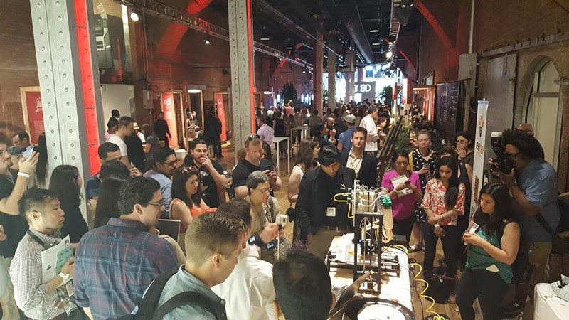 "BeeHex draws audiences at Food Loves Tech in New York, New York. ""It's the aromas that drew us over,"" said one spectator after grabbing a sample. BeeHex has since activated with Edible magazine, VaynerMedia, General Electric and The Ohio State University."
