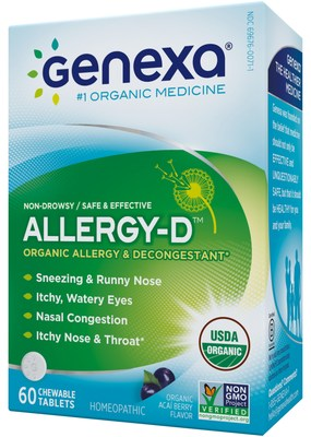 Allergy-D for Adults tackles your worst nasal allergy symptoms head-on with a complete, organic formula designed to help you feel better faster.