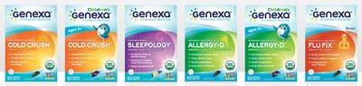 Genexa has created the world's first line of certified organic & non-GMO medicines. Free from fillers and toxins, Genexa's medicines are designed to treat symptoms ranging from sleep, stress, cold, flu, allergies and more.