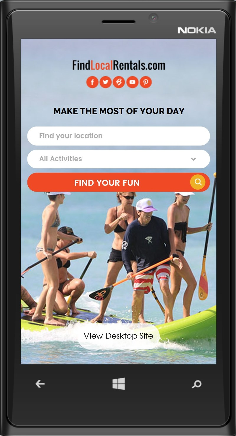 MAKE THE MOST OF YOUR DAY. With a mobile-friendly site, FindLocalRentals.com will make life and fun much easier for anyone looking for an adventure when on the road; only three-easy-clicks to Search, Find and Reserve a local fun activity or locate a nearby service provider. We've got you covered -- spanning across the U.S., Caribbean and Central America.