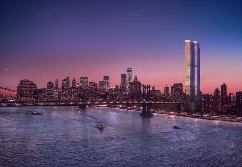 One Manhattan Square es un verdadero Pueblo Vertical con mas de 100.000 pies cuadrados de comodidades en interiores y exteriores.