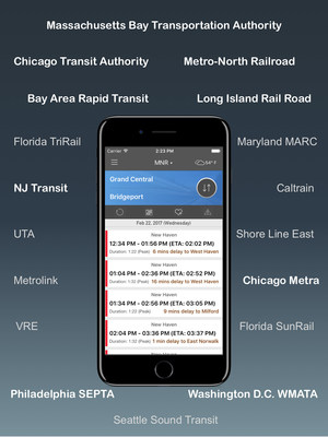 All major commuter rails in one app.