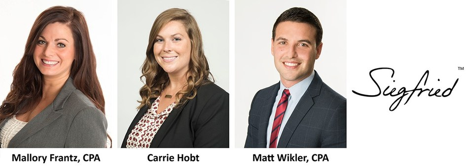 Siegfried Welcomes Three New Associate Directors to its National Market Leadership Team in its Central Region: Mallory Frantz, Carrie Hobt, and Matt Wikler