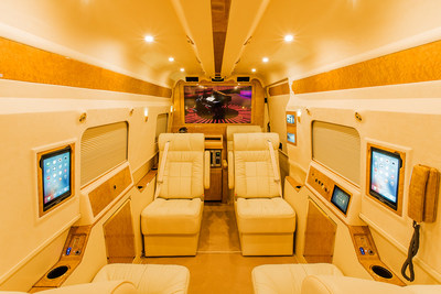 Comfortable interior, multiple i-Pads, onboard wireless internet, provide the perfect setting for family, or business.