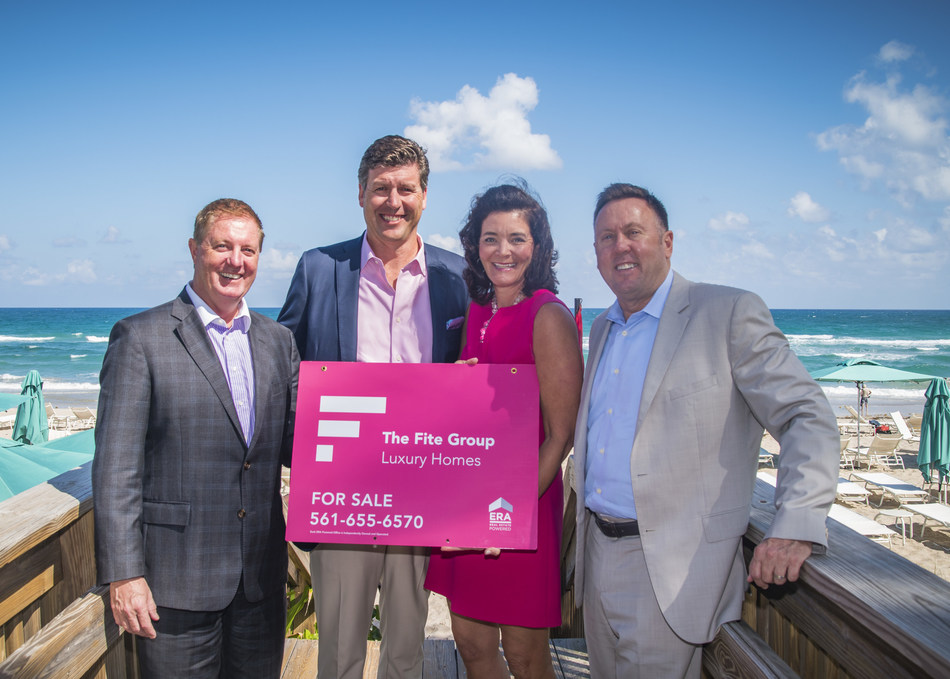 ERA Real Estate welcomes The Fite Group Luxury Homes in Palm Beach, Fla.  From left, Dave Collins, SVP of Broker Services, ERA Real Estate; David Fite, Principal, The Fite Group Luxury Homes ERA Powered; Nadine Fite, CMO, The Fite Group Luxury Homes ERA Powered; and Chris Trick, CMO, ERA Real Estate.