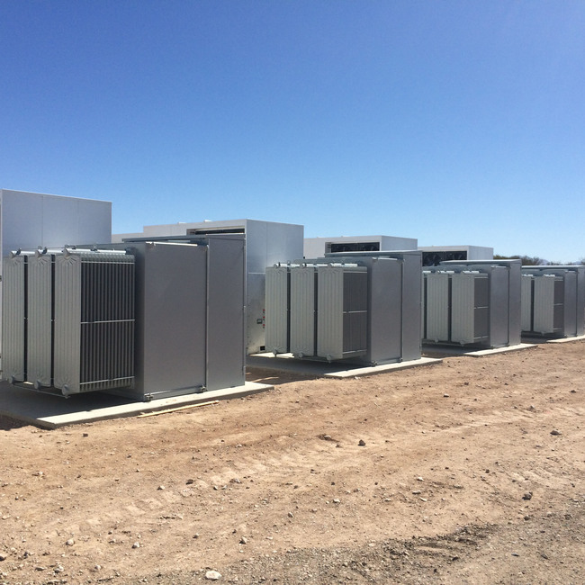 E.ON North America's Texas Waves energy storage projects will be co-located at the existing Pyron and Inadale wind farms in West Texas. The projects will be the second and third grid connected lithium-ion battery systems installed by E.ON in North America. Iron Horse (pictured), E.ON's first energy storage project is currently under construction southeast of Tucson, Ariz. All three projects will be online by the end of 2017.