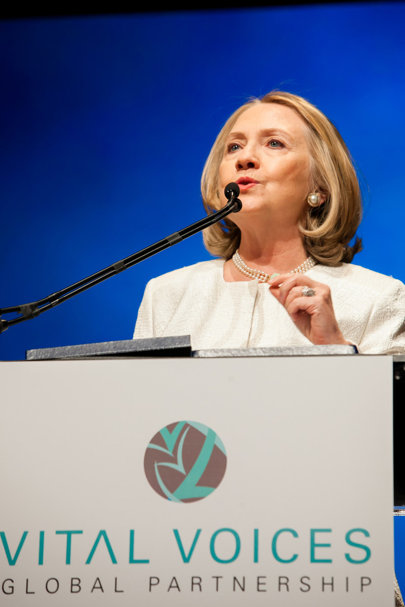 The Honorable Hillary Rodham Clinton at the 2013 Global Leadership Awards