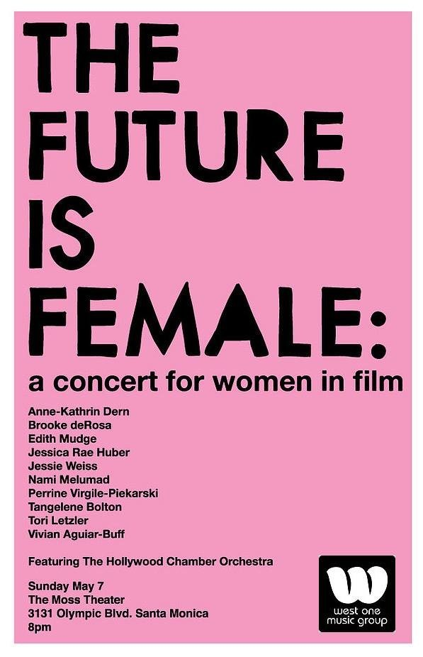 The Future Is Female event poster.