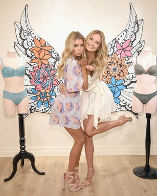 NEW YORK, NY - FEBRUARY 28:  Victoria's Secret Angels Stella Maxwell (L) and Romee Strijd gear up in Dream Angels for a hot spring season on February 28, 2017 in New York City.  (Photo by Dimitrios Kambouris/Getty Images for Victoria's Secret)