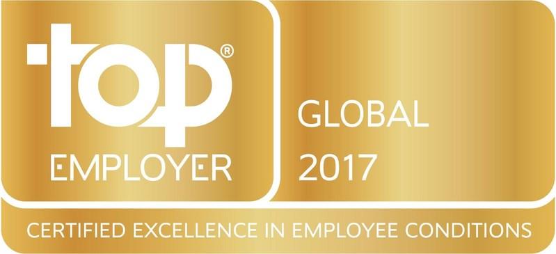 Top Employer Global 2017 (PRNewsFoto/JTI)