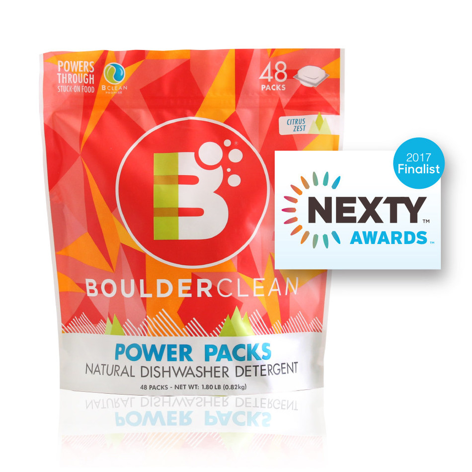 Boulder Clean Dishwasher Detergent Power Packs Named NEXTY Finalist for Natural Products Expo West.