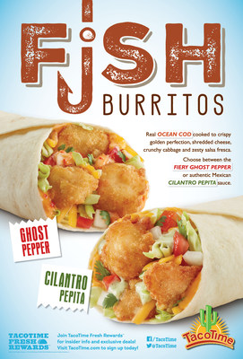 The Authentic Cilantro Pepita and the Fiery Ghost Pepper Fish Burritos Spice Up the Menu For a Limited Time.