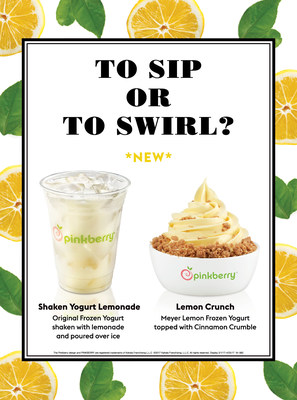 Meyer Lemon Frozen Yogurt and Shaken Yogurt Lemonade are available for a limited time only.