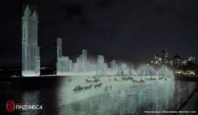 Maquette Ice @Compagnia Finzi Pasca (CNW Group/Société des célébrations du 375e anniversaire de Montréal)