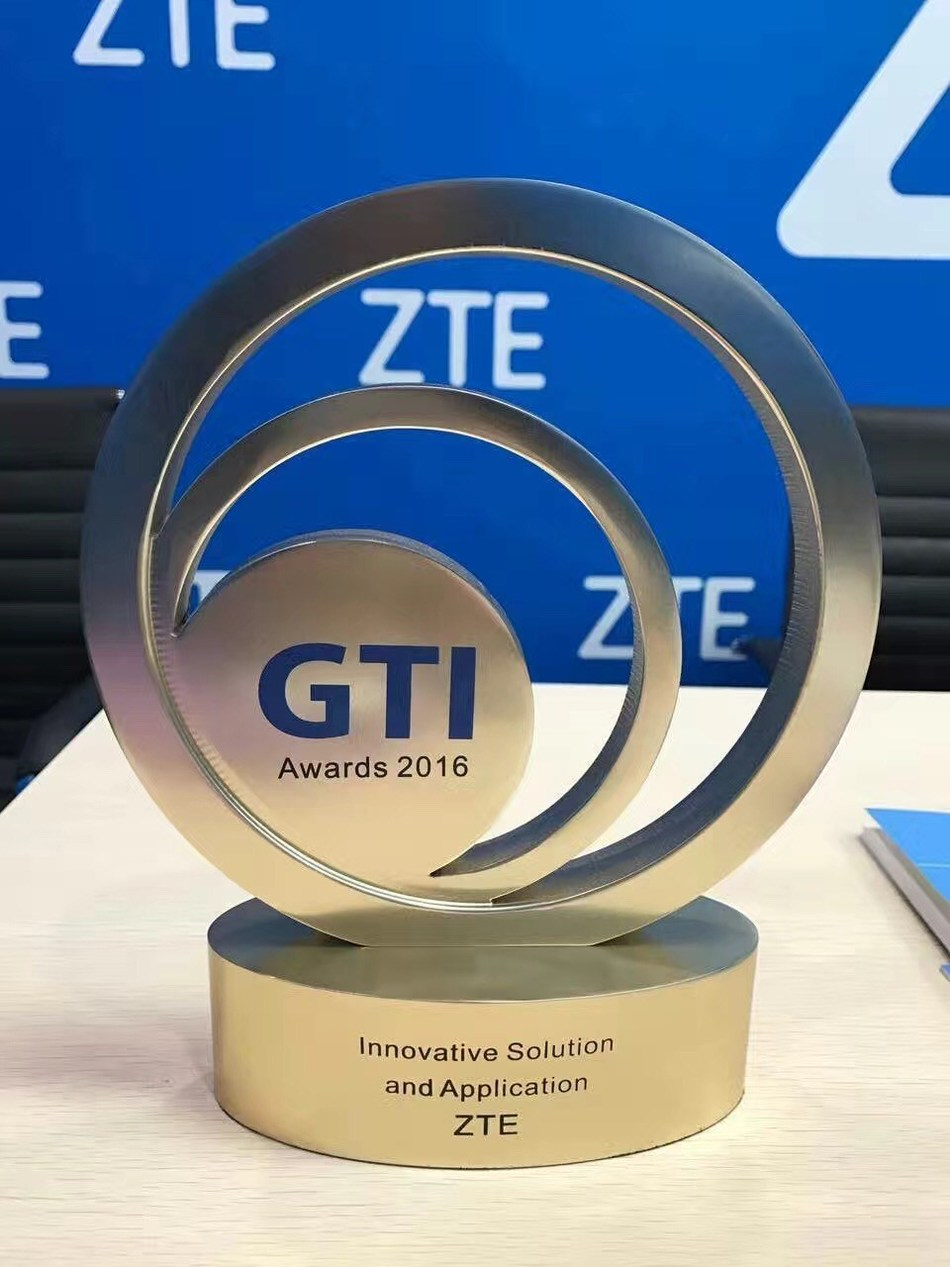 ZTE Wins Innovative Solution and Application Award (PRNewsFoto/ZTE Corporation)