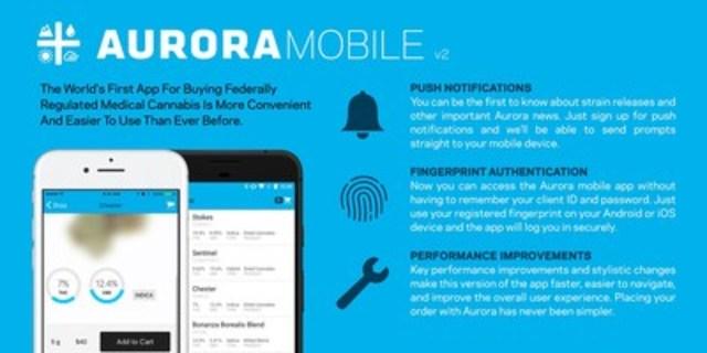 Aurora Cannabis Next Gen Mobile App (CNW Group/Aurora Cannabis Inc.)