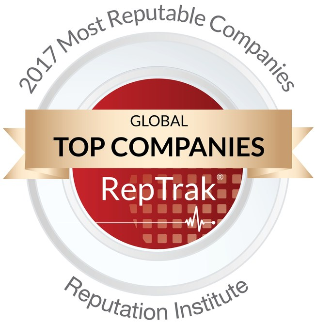 RepTrak Global Top Companies Logo (PRNewsFoto/The Ferrero Group)