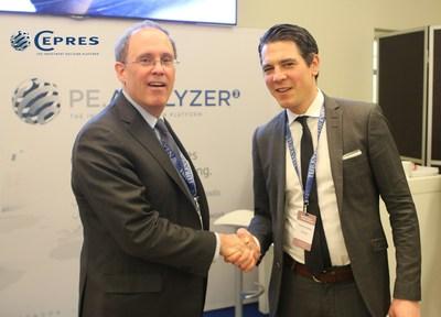 Peter Freire of ILPA, left, and Daniel Schmidt of CEPRES, right