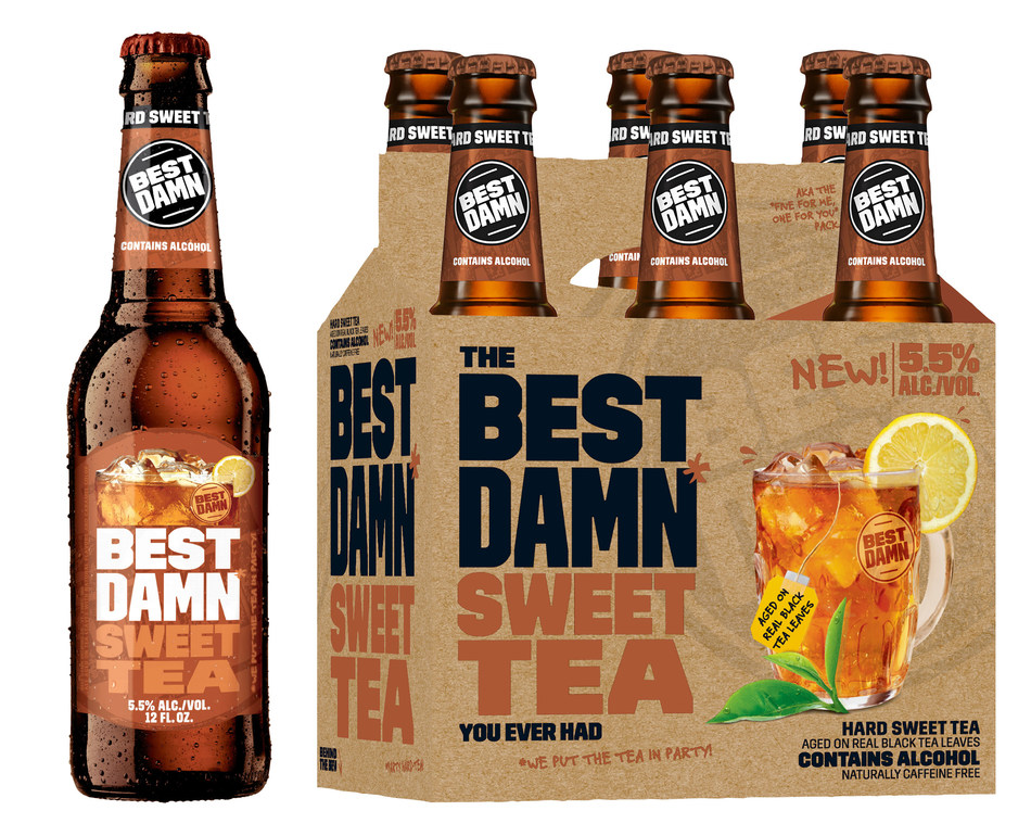 BEST DAMN Sweet Tea, available in select Northwest and Midwest markets starting March 27th.