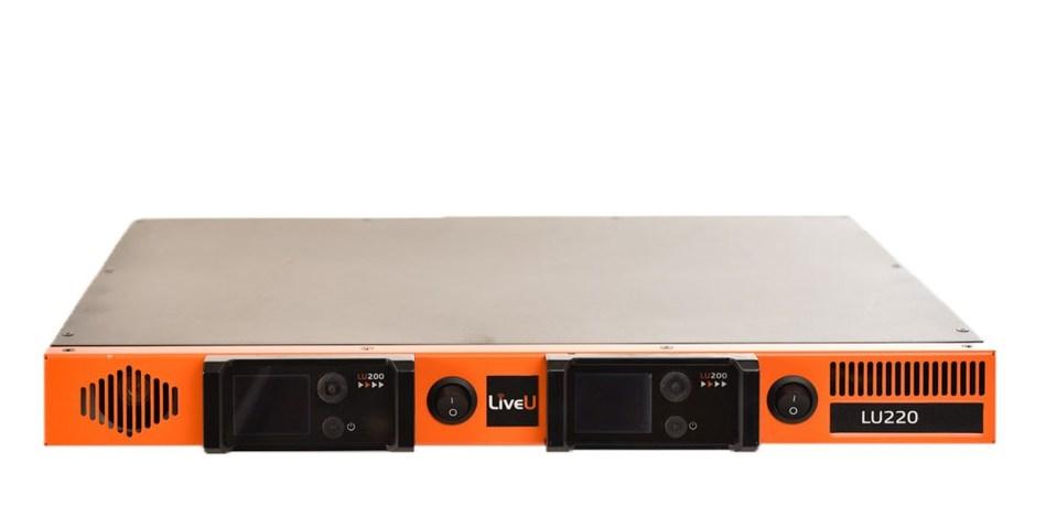 LiveU's LU220 rack-mount encoder (PRNewsFoto/LiveU)