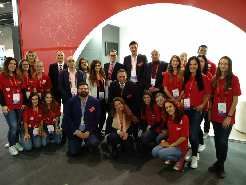 The Cequens team at Mobile World Congress 2017. Cequens is the Middle East and Africa's largest Cloud Communication Platform (PRNewsFoto/Cequens)