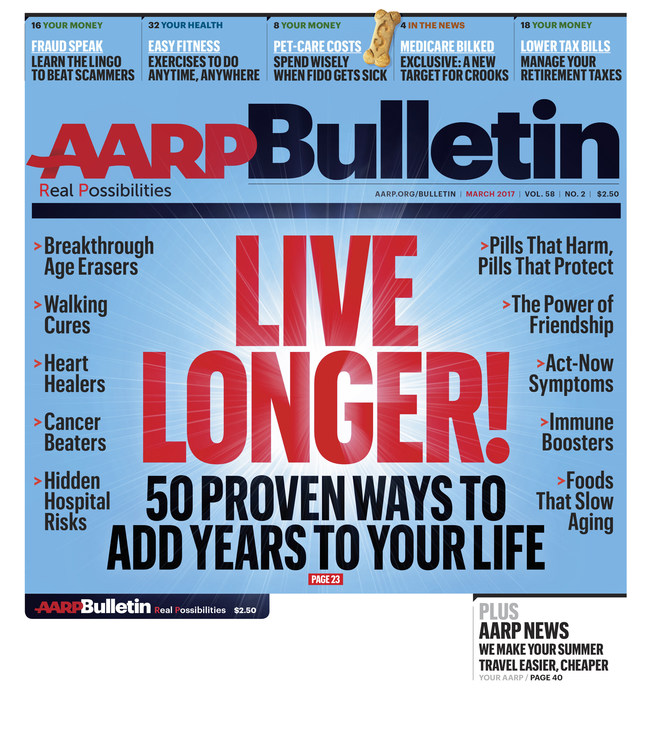 AARP Bulletin March Issue Cover