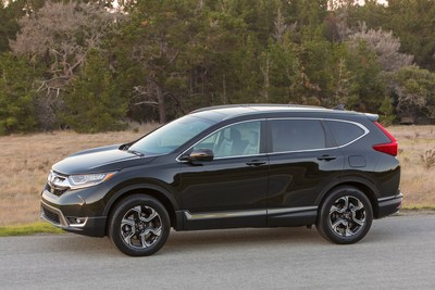 The all-new 2017 Honda CR-V, with sibling HR-V, set new February sales records to help push the Honda Division and Honda trucks to best-ever February sales. (PRNewsFoto/American Honda Motor Co., Inc.)