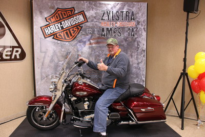 Art Clubb, Decker Truck Line, Inc.'s 2016 Grand Champion Professional Driver of the Year, on his brand new 2016 Harley Davidson.