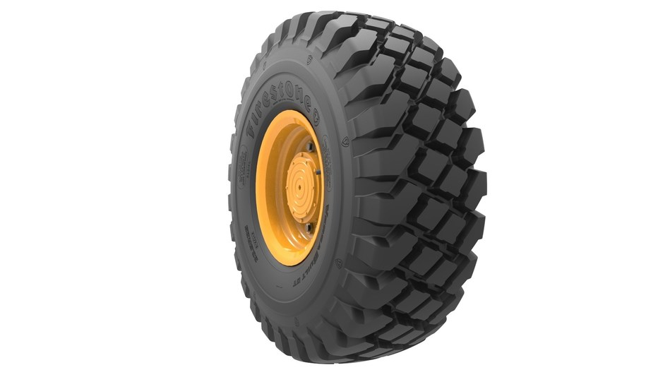 The Firestone VersaBuilt Deep Tread radial tire is designed for long wear life and dependability in loader and earthmover applications.