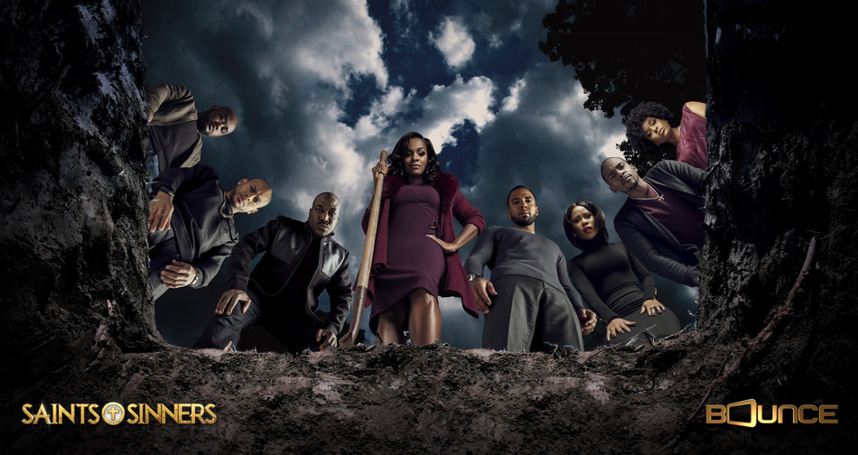 Bounce's breakout hit original drama series Saints & Sinners is back for  a much-anticipated second season with new episodes premiering every Sunday night at 9:00 p.m. (ET/PT). Visit BounceTV.com for more information. #SaintsandSinners @BounceTV (PRNewsFoto/Bounce)