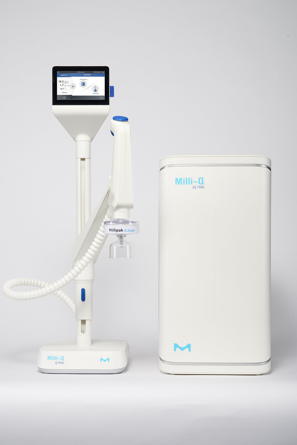 MilliporeSigma's customers are looking for compact, ergonomic systems and software so they can advance science, further faster. The Milli-Q(R) IQ 7000  lab water purification system allows scientists to focus on problem solving, without worrying about the purity of their water. MilliporeSigma's latest product reflects its legacy of pioneering innovations in lab water purification. (PRNewsFoto/MilliporeSigma)