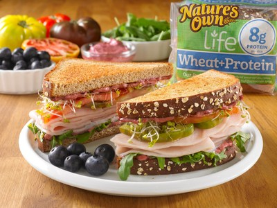 The new Nature's Own Life(R) line of breads, available in grocery retailers nationwide, gives shoppers solutions to address a variety of health and wellness needs. The line includes six varieties: Wheat+Protein, 7 Sprouted Grains, Double Fiber Wheat, 100% Whole Grain Sugar Free, 40 Calories Honey Wheat and 40 Calories Wheat. Learn more at naturesownbread.com/life.