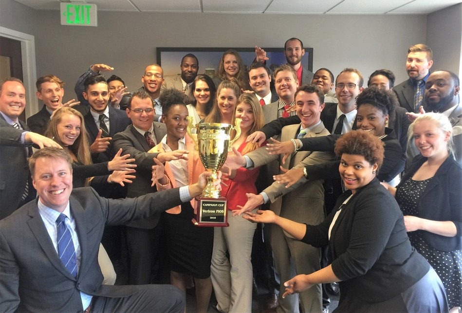 Marketing and sales firm TDE earned the coveted Campaign Cup national sales award for their outstanding performance during the fourth quarter at 2016.