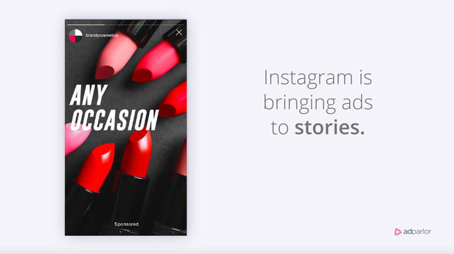 Instagram Brings Ads to Stories, AdParlor to Help Popularize the Format With Brands